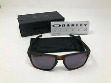 Oakley OO9341-04 Silver XL Sunglasses Matte Brown Tortoise with Warm Grey Lens