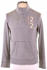 HOLLISTER Mens Sweatshirt Jumper Medium Grey Cotton  FX17