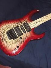 Cort X-11QM Guitar and glarry burning fire
