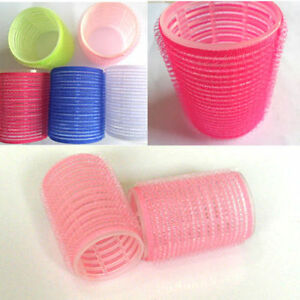 New 6Pcs Large Hair Salon Rollers Curlers Tools Hairdressing Tool Soft Diy 0 _fr