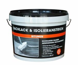 Dachlack- und Isolieranstrich 5-10 KG Abdichtung Bitumenanstrich schwarz NEU