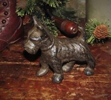 Primitive Antique Style Cast Iron Scottish Terrier Dog Paperweight Door Stop