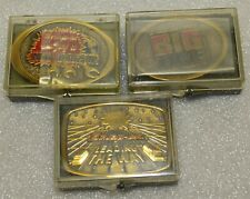 Snap-on Tools (3) Vintage 80's-90's Solid Brass Belt Buckles Limited Editions
