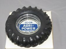 Vintage CO-OP AGRI-POWER Rubber Tractor Tire Ashtray NIB RARE!