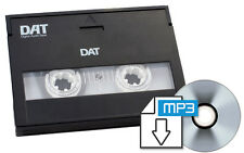 DAT  Digital Audio Tape to CD or MP3 Transfer Copy Convert Service