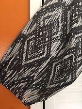 3X New Gray White Graphic Boho Peasant Top Blouse Tribal Southwest 24/26/28 4X