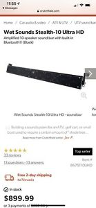 Wet Sounds Stealth 10 ULTRA HD  Amplified Sound bar (No Remote)