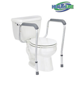 Toilet Safety Frame Surrounding Rail Offers Support, Easier to Sit and Rise