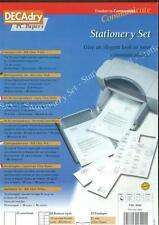 Decadry Papeterie Set Côtes Papier Blanc Assorti Letterhead Envelopes