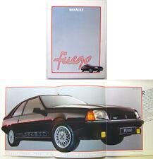 Renault Fuego 1984-86 Original French Market Brochure