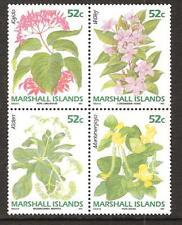 MARSHALL ISLANDS # 395-398 MNH FLOWERS PLANTS FLORA