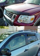 Ford Explorer 2002 - 2005 Bug Deflector Shield & In-Channel Vent Visor Combo