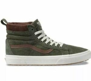 Vans Size 10 Sk8-Hi MTE Leather Deep Lichen Green Olive Brown Hiking. Brand New