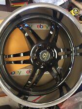 "Lorenzo 22""x9.5 Chrome & Black Forged Wheel. 5x120mm. Pt. 112229502X"