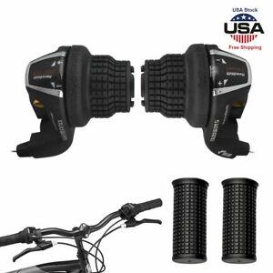 Universal MTB Bike Bicycle Speed Shifter /& Handlebar Grip 7 Class 21 Speed Black