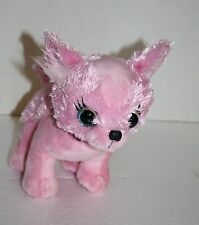"""Planet Posh Chihuahua PORTIA DOG 8"""" Pink Puppy Leopard Collar Soft Toy H12815"""