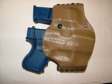 HOLSTER WITH EXTRA MAG BROWN CARBON FIBER KYDEX FITS GLOCK 26/27/33