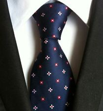 Tie Neck tie with Handkerchief Blue White & Red Floral