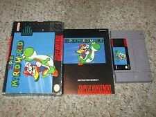 Super Mario World (Super Nintendo SNES, 1991) Complete in Box GOOD Original