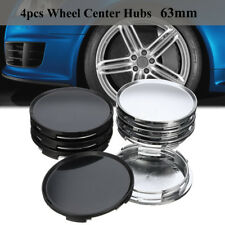 4X 63mm 58mm Universal Car Vehicle Wheel Center Hub Cap Cover Set Black Sliver