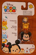 Disney TSUM TSUM Cinderella-Winnie the Pooh-Mickey Mouse Stack'em Series 1 3 set