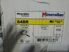 """New listing 100 Minerallac 648R 2"""" Bridal Rings 1/4""""-20"""