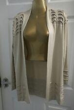 M&S per una long beige cardigan size 12 excellent condition