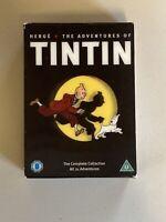 HERGÉ The Adventures of Tintin Complete DVD 5 Disc Boxset Collection RARE