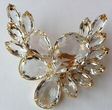 VINTAGE JULIANA CLEAR RHINESTONE BROOCH RF1