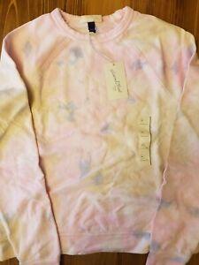 NWT Universal Thread Women's Pullover Crew Sweatshirt Size M Pink tie dye