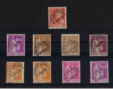39 TIMBRES TYPE PAIX 30 C VERT A 1 F 40 LILAS NEUFS GO S/C A/C PREOBLITERES 1932