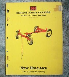 New Holland Service Parts Catalog Model 19 Farm Wagon--->