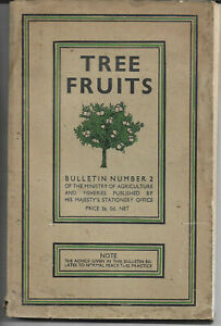 Vintage book Tree Fruits Bulletin 2 Ministry of Agriculture & Fisheries 1944 vgc