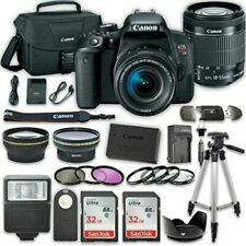 Canon EOS T7i 32GB Card DSLR Camera with 18-55mm IS STM Lens and Accessories