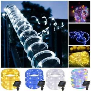 300 200 LEDs Solar Rope Tube Lights Waterproof String Light Outdoor Garden Lamp