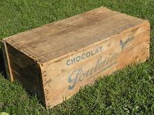 Ancien Caisse Bois chocolat poulin deco indus BAR BISTRO loft industriel