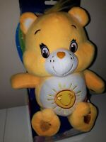 "Care Bears Boxed Toy  Funshine Bear Super Soft Plush new in box 12 "" great gift"