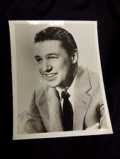 Vtg Signed Autographed Studio Portrait Hollywood Movie Tv Mike Wallace 7 x 9