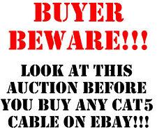 CAT5e CMR Riser Ethernet UTP Cable Blue 1000FT - 24 AWG BARE COPPER - NOT CCA