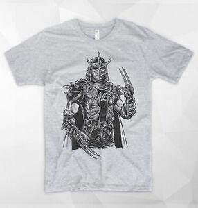 Shredder Punk T Shirt Teenage Mutant Ninja Turtles TMNT Foot Clan Metal Rock