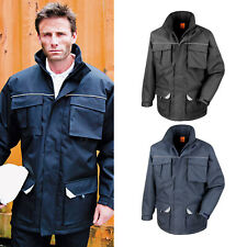 Result Work-Guard Sabre Long Coat (R301X) - Waterproof Parka Workwear Jacket