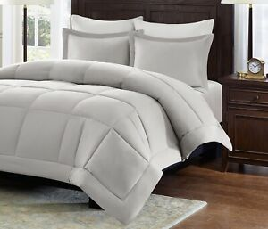 Madison Park Microcell Down Cal King Comforter Mini Set in Grey New.