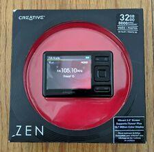Creative ZEN Black 32GB MP3 Player with FM Radio Voice Recorder SDHC Memory Slot
