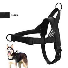 Black Front Leading Dog Harness No-Pull No-Choke Soft for Small Large Dogs Walk