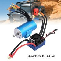 SUPARSS 3670 2650KV Brushless Motor with 120A ESC Combo for 1/8 SCX10 RC Car#GD