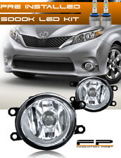 LED 2011-2017 Toyota Sienna Clear Replacement Fog Light Housing Assembly Pair