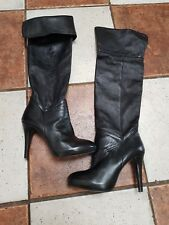 women Italian LuiJo leather knee boots size5(38) retail price 277