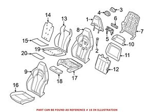 For BMW Genuine Seat Cover Front 52108062281