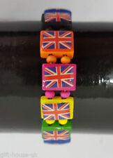 Pulseras de bisutería color principal multicolor de madera