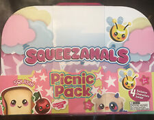 Squeezamals ~ Picnic Pack 9-Piece Set Toys Characters Milk Cherry Honey NEW